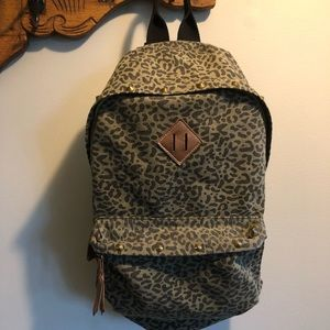 Mossimo Leopard backpack with studded accents